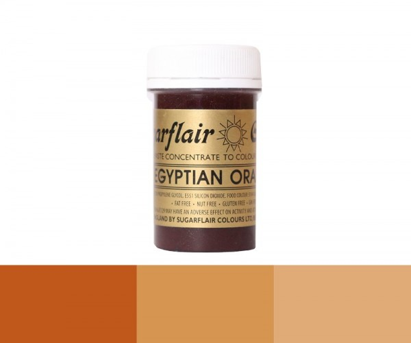 Sugarflair Pastenfarbe - Egyptian Orange - Orange - 25 g Lebensmittelfarbe