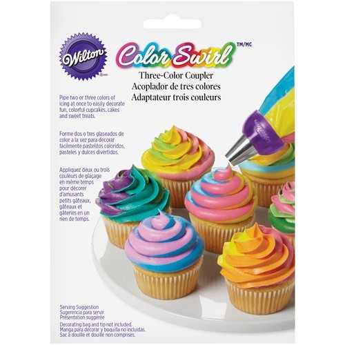 Wilton Adapter - ColorSwirl Tri-Color Large Coupler