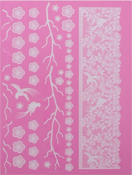 Claire Bowman - Cake Lace Oriental Blossom Large Mat