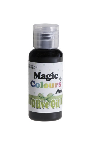 Magic Colours, Gelfarbe - Olivgrün, 32 g - Lebensmittelfarbe - Olive Oil
