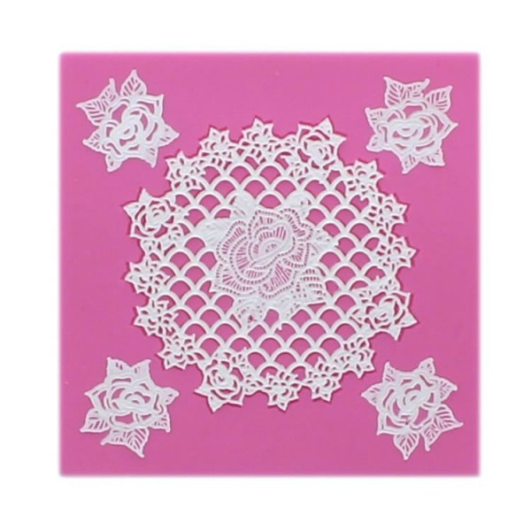 "Claire Bowman - Cake Lace Mat ""Rosie"""