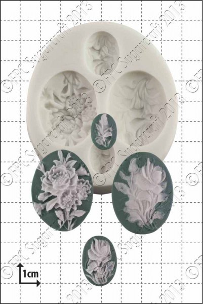 FPC-Sugarcraft Silikon Mould - Flower Cameos