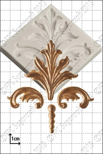 FPC-Sugarcraft Silikon Mould -  Ornament-Damask Scrolls