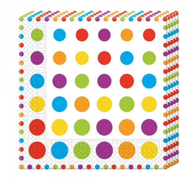 Bright Color Dots - Bunte Punkte - Servietten 33 cm  3-lagig - 20 Stück