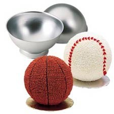 Wilton Backform - 3D Ball - Baking Pan - 4er Set