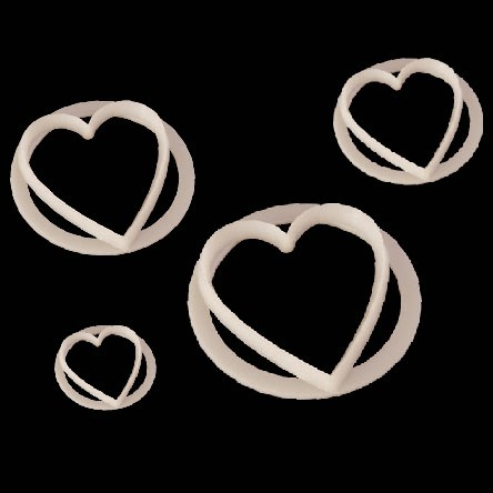 FMM- Heart Cutter 4/Set