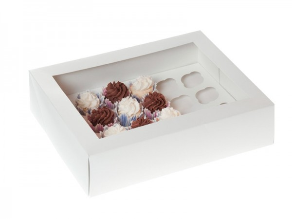 HOM mini CupcakeBox 24 er - Weiß
