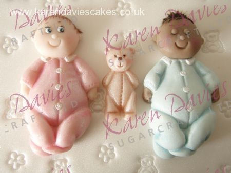 Karen Davies - Mould Baby und Teddy