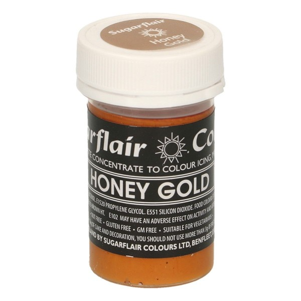 Sugarflair -  Pastenfarbe - Honey Gold - 25 g
