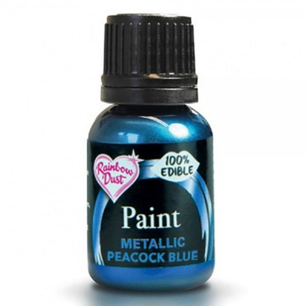 Rainbow Dust Metallic Farbe Peacock Blue, 25 ml
