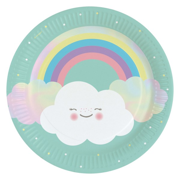 8 Teller Rainbow & Cloud 23cm