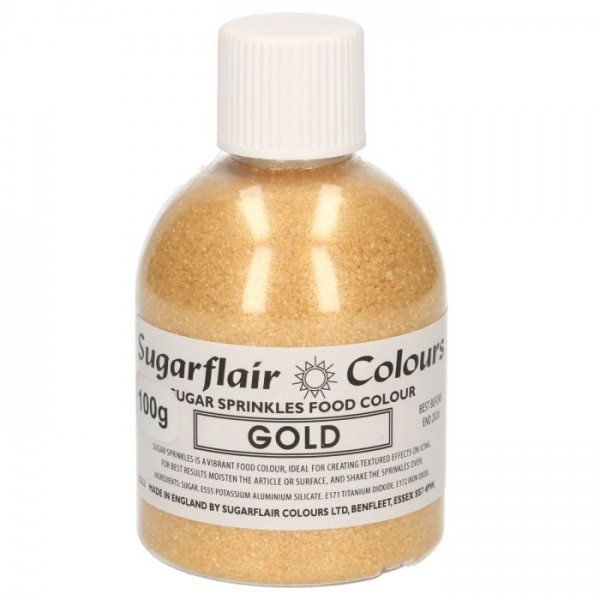 Sugarflair - Bunter Zucker - Gold - 100 g