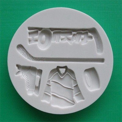 Alphabet Moulds Silikonmould - Eishockey Motiven