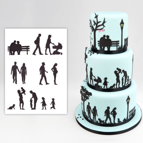 Patchwork Cutters - Famile - Family Silhouette Set - 11teilig