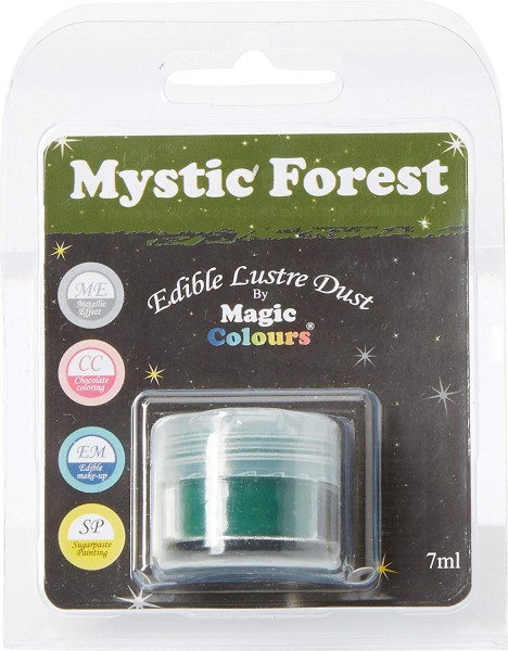 Magic Colours - Glanzpuderfarbe -  Dunkelgrün - Mystic Forest - 7 ml - Edible Lustre Dust