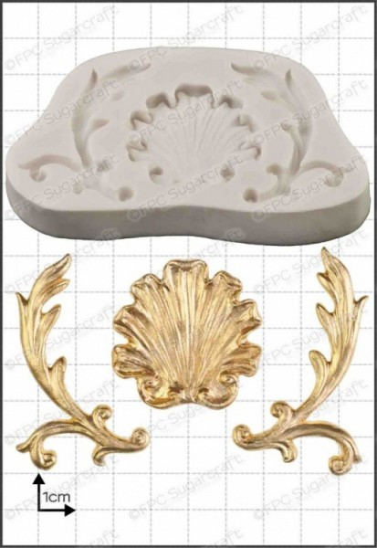 FPC-Sugarcraft Silikon Mould - Muschel Barockstyl - Baroque Shell