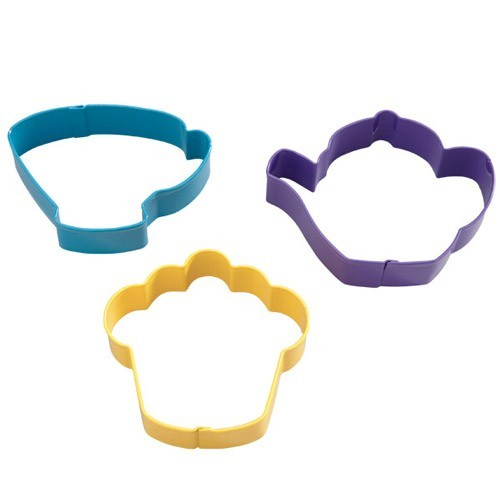 Wilton Metall Ausstecher - Teeparty - Cutter-Set 3teilig