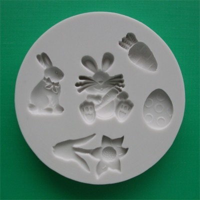 Alphabet Moulds Silikonmould - Osterhase, Osterei und andere Motive - Easter Mould