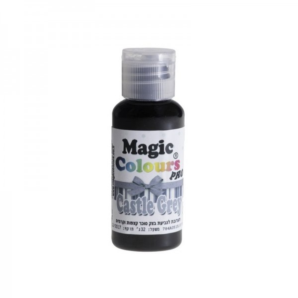 Magic Colours, Gelfarbe - Grau, 32 g - Lebensmittelfarbe - Castle Grey