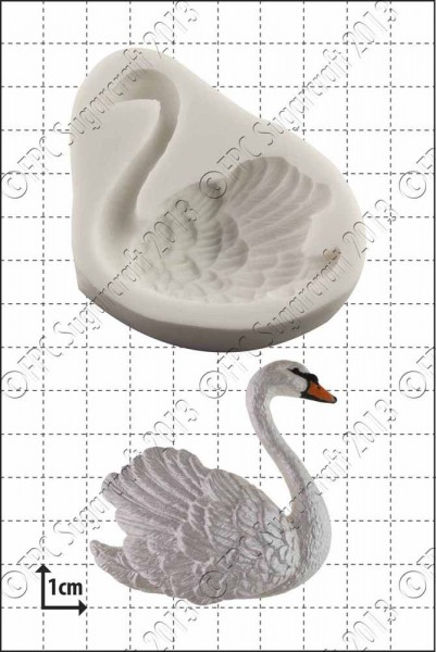 FPC-Sugarcraft Silikon Mould - Schwan Rechts