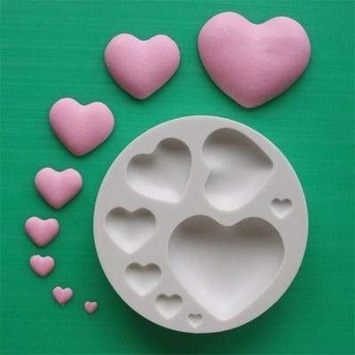 Alphabet Moulds Silikonmould - Herzen - Plain Hearts Mould