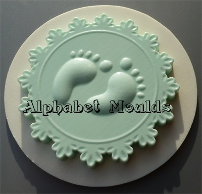 Alphabet Moulds Silikonmould - Cupcake Topper Kinderfüße