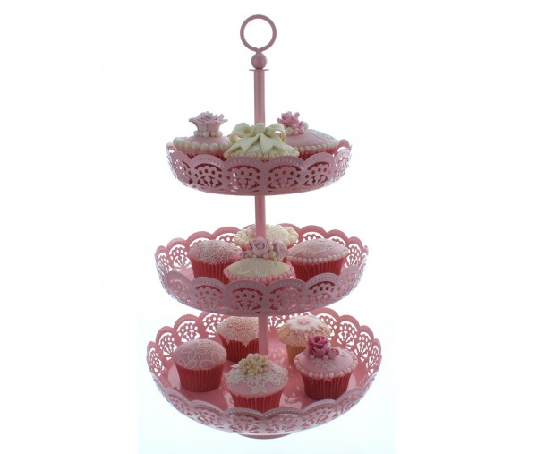 Claire Bowman-Cupcake Etagere Baby Pink