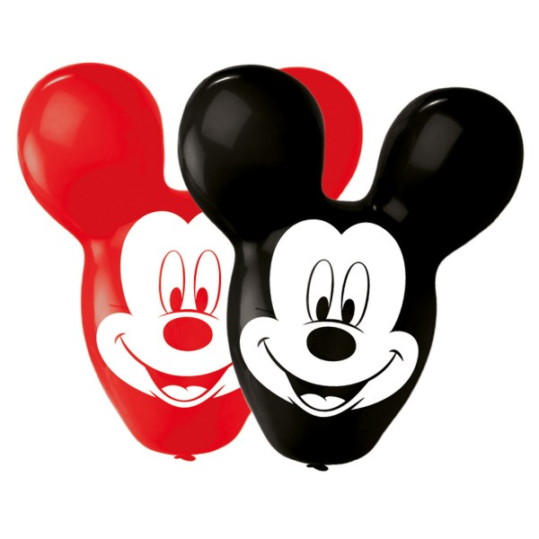 4 Latexballons Mickey Giant Ears 55,8cm/22""