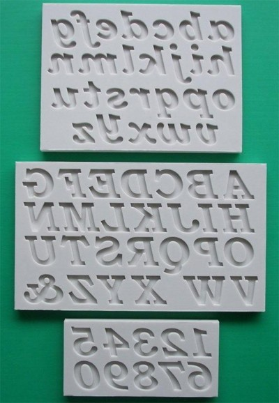 Alphabet Moulds Silikonmould - Alphabet und Zahlen - Bookman Old Style Alphabet Full Set Mould