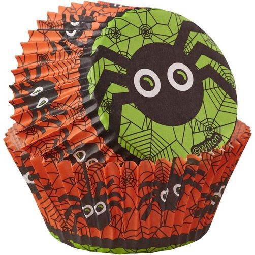 Wilton Papierbackform - Spinne - Baking Cups Spider - 75 Stück - Grusel Dekoration ! - Halloween De