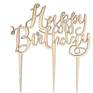 Happy Birthday Cake Topper Aus Holz