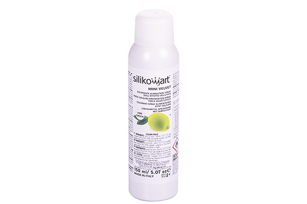 Silikomart - Velvet Spray Lime Grün - 150 ml - Mini