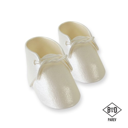 PME Edible Cake Topper Baby Bootee Pearl Pkg/2