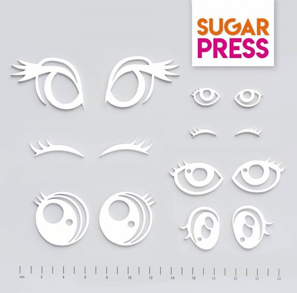 Sugar Press Set - Augen - 14 Teilig