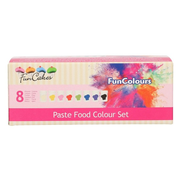 FunCakes - Lebensmittelfarben Pasten - Set 8-teilig - FunColours Paste Set