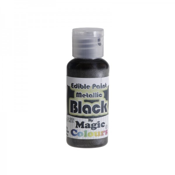 Magic Colours - Schwarz - Essbare Metallicfarbe - 32 g