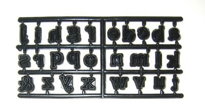 Patchwork Cutters - Alphabet Lower Case - 27teilig