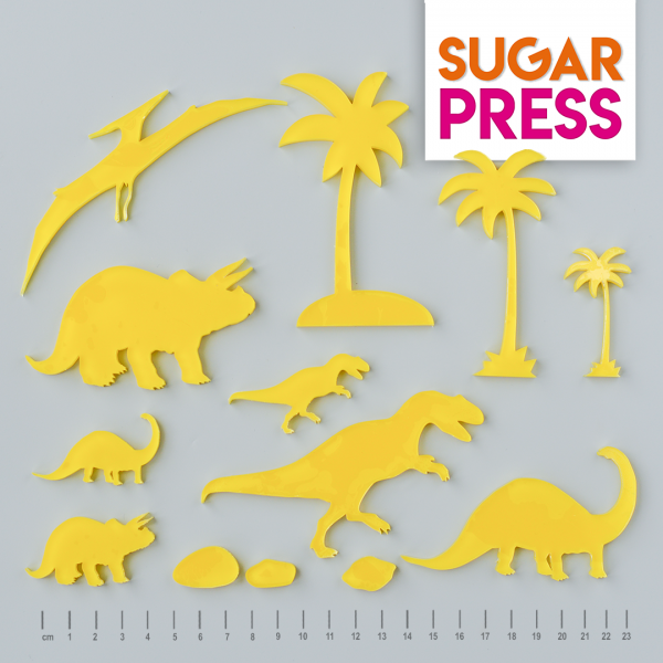Sugar Press Set Dinosaurier - 13 Teilig