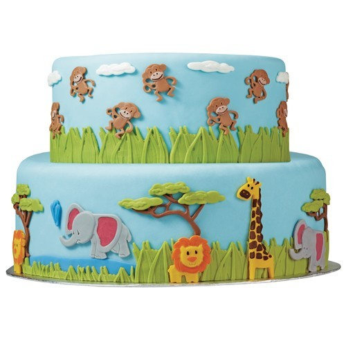 Wilton Mould - Dschungeltiere - Fondant und Gumpaste Mold - Jungle Animals